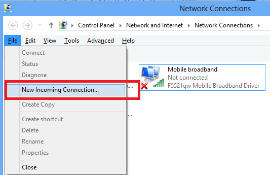 Setting up a VPN server on Windows 7 or Windows 8 – Secure your